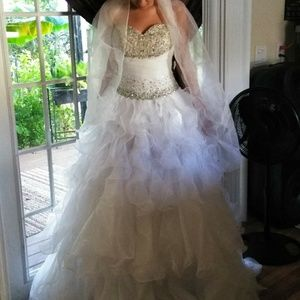 Women\'s Bedazzled Wedding Dresses on Poshmark
